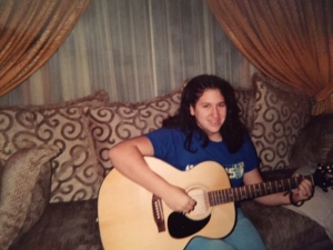 My guitar is present with me in a lot of photos because I felt it conveniently hid my stomach.